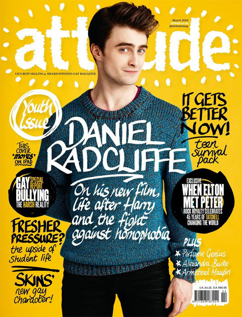 Daniel Radcliffe on the cover of Attitude